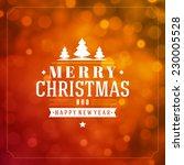christmas light vector... | Shutterstock .eps vector #230005528
