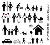 set of family icons and signs... | Shutterstock .eps vector #230010130