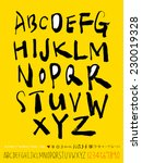 alphabet and numbers   hand... | Shutterstock .eps vector #230019328