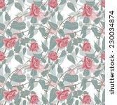 roses seamless pattern | Shutterstock . vector #230034874