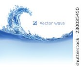cool water wave. illustration... | Shutterstock .eps vector #230035450