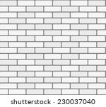 white brick wall. vector ... | Shutterstock .eps vector #230037040