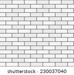 white brick wall. vector ... | Shutterstock .eps vector #230037040