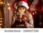 Little Cute Girl Looking Insid...