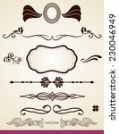 page dividers and decorations | Shutterstock . vector #230046949