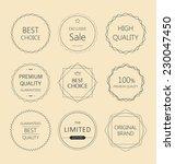 minimalistic premium quality... | Shutterstock .eps vector #230047450
