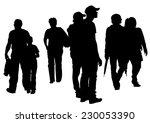 big crowds children on white... | Shutterstock . vector #230053390