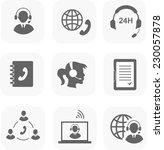 call center servise set icons ... | Shutterstock .eps vector #230057878