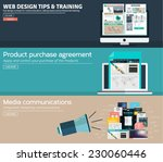 set of flat concept design for... | Shutterstock .eps vector #230060446