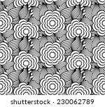 cherry flower pattern in black... | Shutterstock .eps vector #230062789