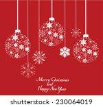 vector snowflake christmas tree ... | Shutterstock .eps vector #230064019