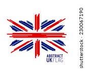 abstract uk union jack flag... | Shutterstock .eps vector #230067190