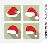 santa hat flat icons | Shutterstock .eps vector #230070940