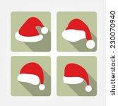 santa hat flat icons | Shutterstock .eps vector #230070940
