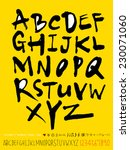 alphabet and numbers   hand... | Shutterstock .eps vector #230071060
