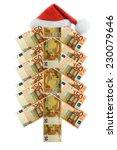 christmas european banknote fir ... | Shutterstock . vector #230079646