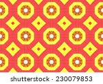 red ethnic pattern. abstract... | Shutterstock . vector #230079853