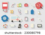 medical and healthcare vector... | Shutterstock .eps vector #230080798