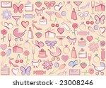 vector retro style elements | Shutterstock .eps vector #23008246
