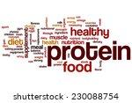 protein word cloud concept | Shutterstock . vector #230088754