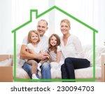 family  children  accommodation ... | Shutterstock . vector #230094703