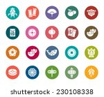 chinese new year color icons | Shutterstock .eps vector #230108338