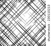 grunge grid black and white... | Shutterstock .eps vector #230110213