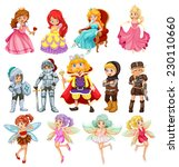 set of fantasy knights and... | Shutterstock .eps vector #230110660