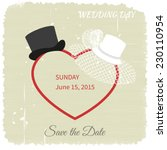 wedding invitations with white... | Shutterstock .eps vector #230110954