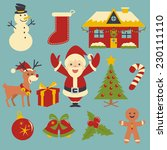 christmas icons  vector... | Shutterstock .eps vector #230111110