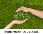 two woman's open hands making a ... | Shutterstock . vector #230116186