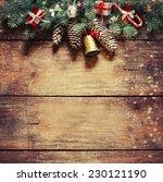christmas fir tree with... | Shutterstock . vector #230121190