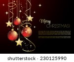 merry christmas card with red... | Shutterstock .eps vector #230125990