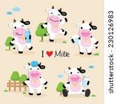 Cow Cute Character Cartoon...