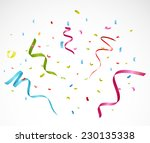 colorful confetti on white... | Shutterstock . vector #230135338
