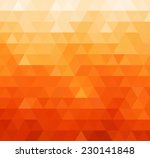 Abstract Orange Geometric...