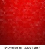 Abstract Red Geometric...