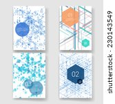 set of abstract isometric... | Shutterstock .eps vector #230143549