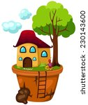 illustration of isolated house... | Shutterstock .eps vector #230143600