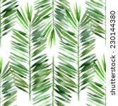 watercolor palm tree leaf... | Shutterstock .eps vector #230144380