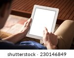 the person using the digital... | Shutterstock . vector #230146849