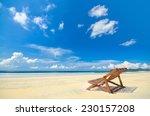 beach chair under blue sky   Shutterstock . vector #230157208