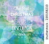modern sale discount christmas... | Shutterstock .eps vector #230158210