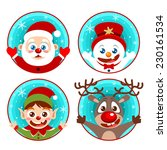 vector christmas character icon ... | Shutterstock .eps vector #230161534