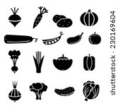 vegetables icons set | Shutterstock .eps vector #230169604