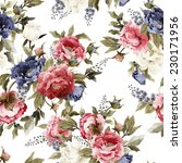 seamless floral pattern with...   Shutterstock . vector #230171956