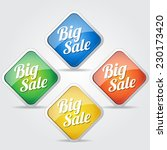 big sale colorful vector icon... | Shutterstock .eps vector #230173420