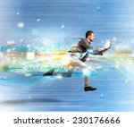 concept of fast internet with... | Shutterstock . vector #230176666