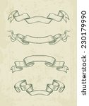 hand drawn vintage ribbons... | Shutterstock .eps vector #230179990