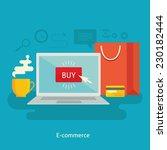 flat design colorful vector... | Shutterstock .eps vector #230182444